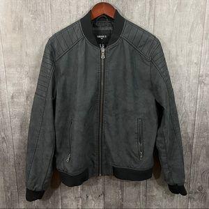 Forever 21 Mens Medium Faux Leather Bomber Jacket